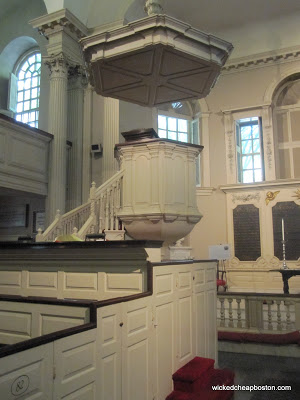 Boston King's Chapel Pulpit