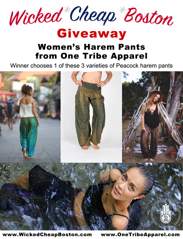 Wicked Cheap Boston One Tribe Apparel Harem Pants Giveaway 2015