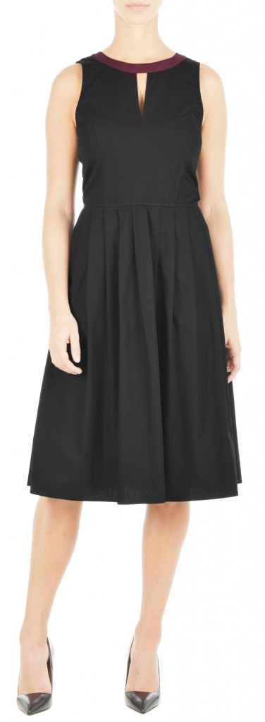 eShakti black cotton dress