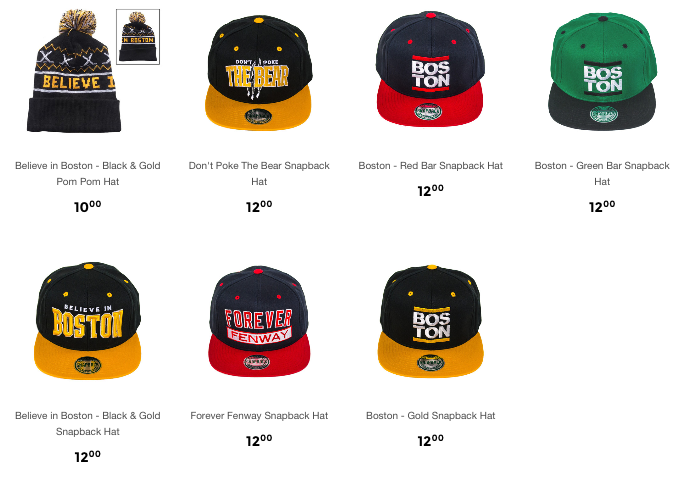 Sully's Brand Boston Hats