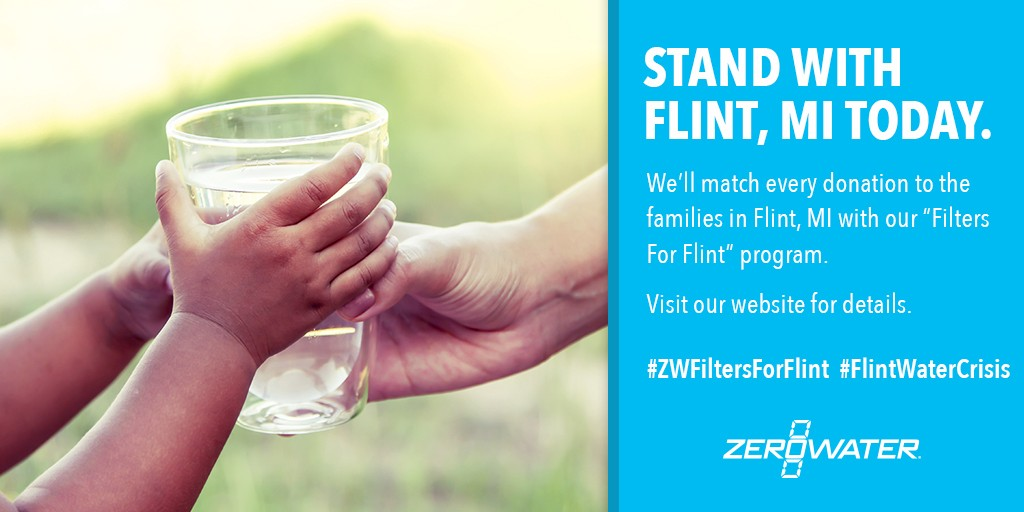 Zero Water Flint Michigan Water Filter Program