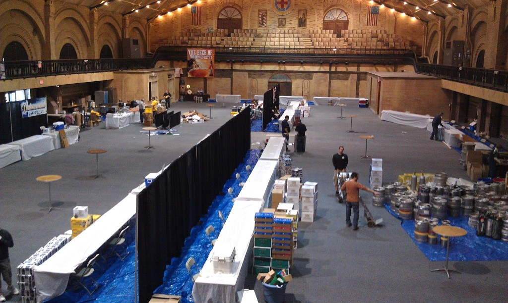 Setting up the Boston Beer Summit