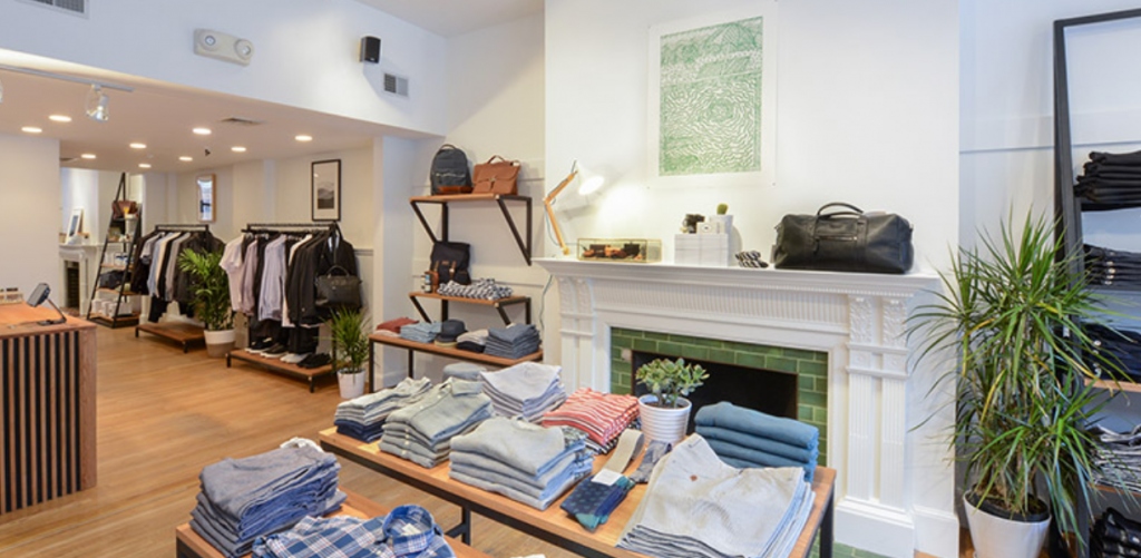 Inside Frank & Oak Boston Store