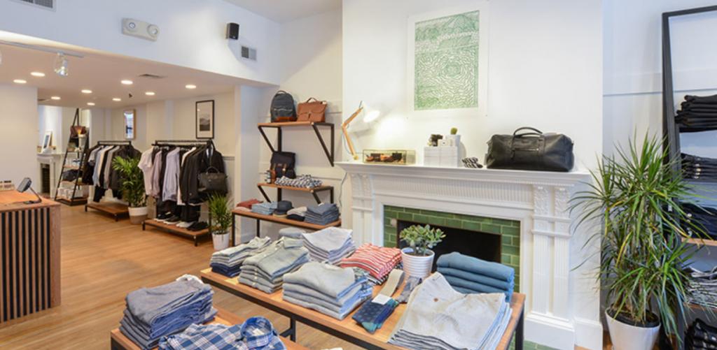 Inside Frank & Oak Boston Store