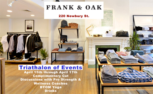 Frank and Oak Boston Marathon Events 2016