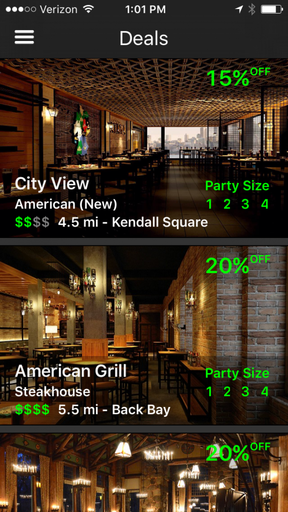 GoPayapa App for Boston Restaurant Discounts
