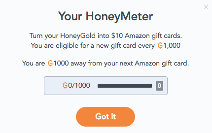 Collect HoneyGold to earn Amazon gift cards